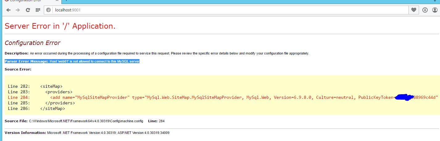 Help - Installed Mysql now i get SOLIDCP error - SolidCP