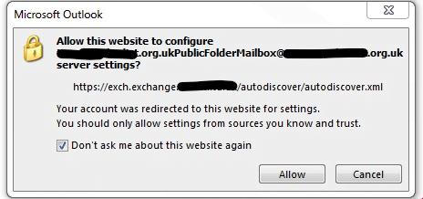 Public Folder creating error in autodiscover - SolidCP