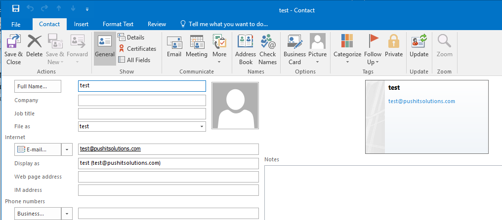 how to add email address to contact list